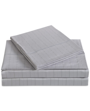 Charisma Classic Cotton Sateen 310 Thread Count Stripe Pair of King Pillowcases Bedding