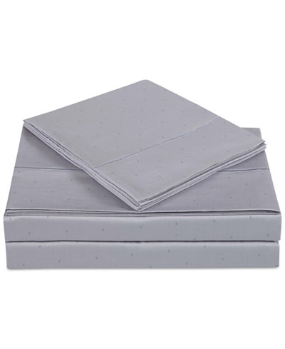 Charisma Classic Cotton Sateen 310 Thread Count 4-Pc. Dot Queen Sheet Set