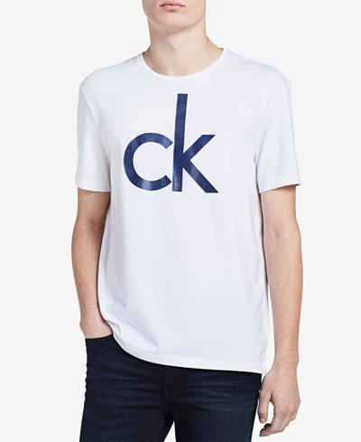 Calvin Klein Men's Big and Tall Graphic Print T-Shirt