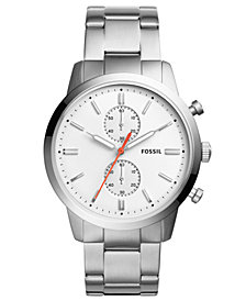 Fossil Men's Chronograph Townsman Stainless Steel Bracelet Watch 44mm