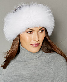 The Fur Vault Fox Fur Knitted Headband