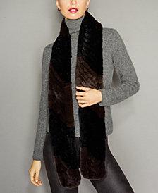 The Fur Vault Knitted Rex Rabbit Fur Scarf