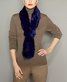 Knitted Chinchilla Fur Scarf