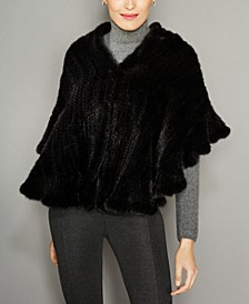 Ruffled Knitted Mink Fur Stole