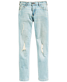 Ring of Fire Distressed Denim Slim-Fit Jeans, Big Boys (8-20), Created for Macy's