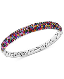 Splash by EFFY® Multicolor Sapphire Bangle Bracelet (10-1/2 ct. t.w.) in Sterling Silver
