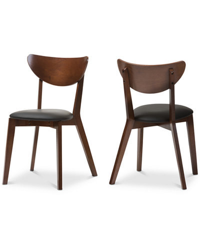 Sumner Faux Leather and Dining Chair (Set Of 2), Quick Ship