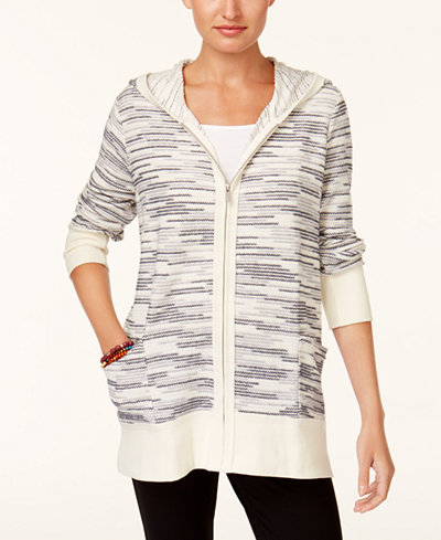 Style & Co Hooded Sweater Jacket, Created for Macy's - Jackets ...