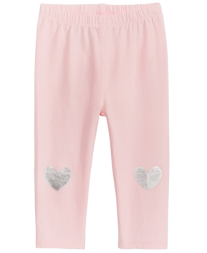 First Impressions MetallicHeart Leggings Baby Girls (024 months) Created for Macys