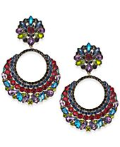 Anna Sui x INC International Concepts Multi-Crystal Gypsy Hoop Earrings, Created for Macy's
