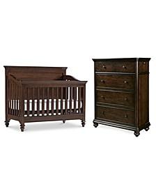 Lucas Baby Bedroom Set, 2-Pc. Set (Crib & Chest)