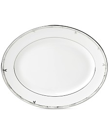 "kate spade new york Emmett Street Platinum Collection 13"" Oval Platter"