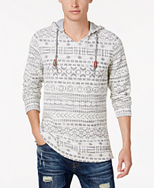 American Rag Men's Southwest Geo Jacquard Hooded Sweater, Created for Macy's