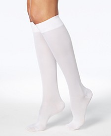 Wellness Women's Compression Firm-Support Knee-High Socks
