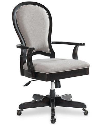 Clinton Hill Ebony Home Office Round Back Desk Chair, Created for Macy's