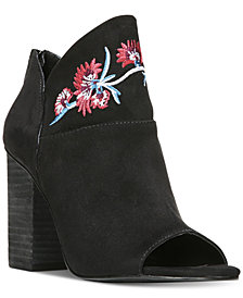 Carlos by Carlos Santana Talana Embroidered Peep-Toe Booties