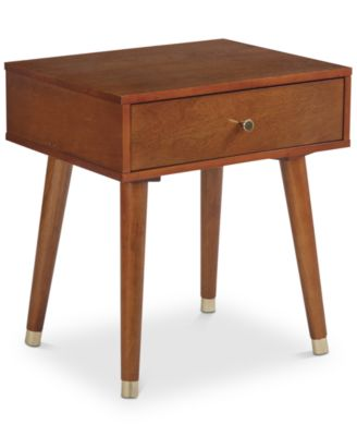 Cupertino Side Table One Drawer, Quick Ship