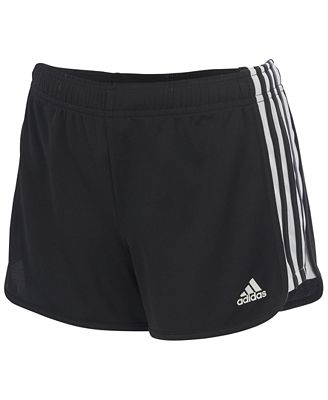 adidas Striped Leg Athletic Shorts, Big Girls