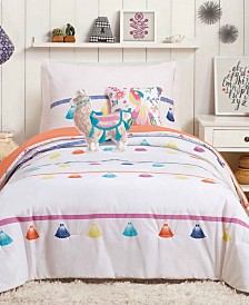 Urban Playground Painted Tassel 5-Pc. Reversible Cotton Comforter Sets