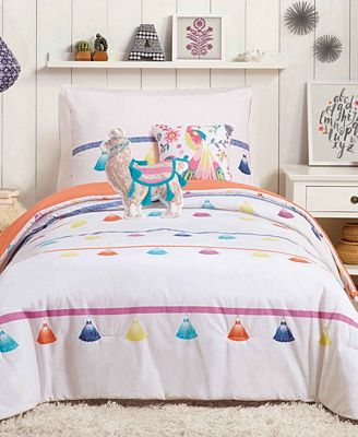 Urban Playground Painted Tassel Reversible Comforter Sets