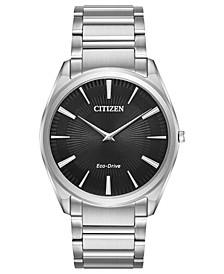 Eco-Drive Men's Stiletto Stainless Steel Bracelet Watch 38mm