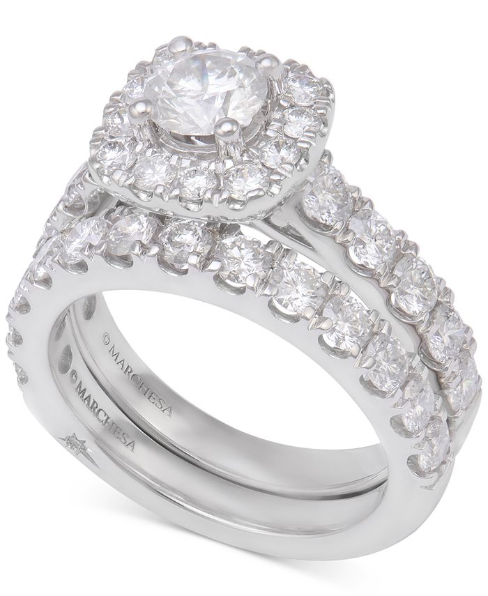 Marchesa - Diamond Bridal Set (3 ct. t.w.) in 18k White Gold