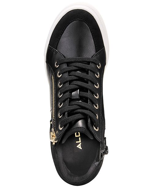 3415f19a2d9d ALDO Kaia Lace-Up Wedge Sneakers   Reviews - Sneakers - Shoes - Macy s