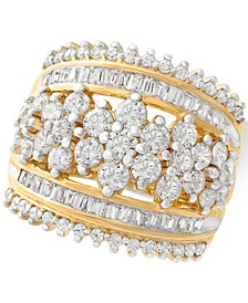 Diamond Cluster Statement Ring (2-1/2 ct. t.w.) in 14k Gold, Created for Macy's
