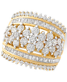 Wrapped in Love™ Diamond Cluster Statement Ring (2-1/2 ct. t.w.) in 14k Gold, Created for Macy's