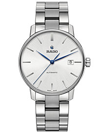 Rado Men's Swiss Automatic Coupole Classic Stainless Steel Bracelet Watch 38mm