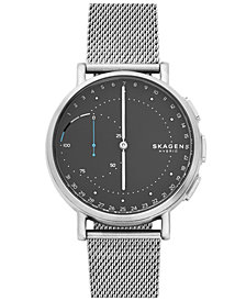 Skagen Unisex Signatur Stainless Steel Mesh Bracelet Hybrid Smart Watch 42mm