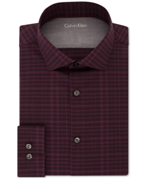 Calvin klein x men 39 s extra slim fit thermal stretch for Calvin klein x fit dress shirt