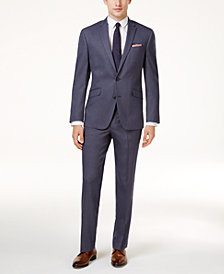 Kenneth Cole Reaction Men's Techni-Cole Slim-Fit Medium Blue Suit