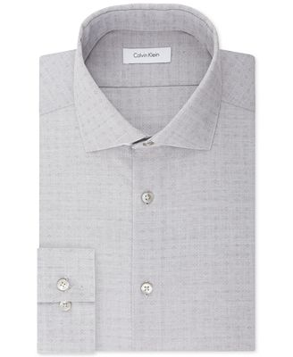 Calvin Klein STEEL Men's Slim-Fit Non-Iron Stretch Performance Print Dress Shirt