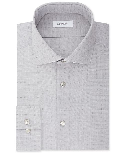Calvin Klein Men's Slim-Fit Non-Iron Stretch Performance Print Dress Shirt