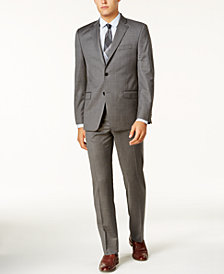 Lauren Ralph Lauren Men's Slim-Fit Medium Gray Windowpane Ultraflex Suit