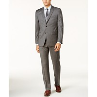 Lauren Ralph Lauren Men's Slim-Fit Windowpane Ultraflex Suit (Mid Gray)