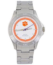 Jack Mason Men's Clemson Tigers Sport Bracelet Silver Watch