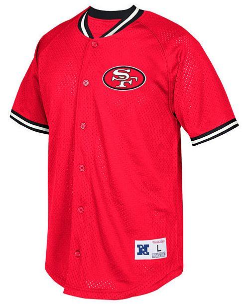 Mitchell   Ness Men s San Francisco 49ers Seasoned Pro Mesh Button Front  Shirt ea1ff8918