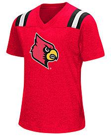 Colosseum Girls' Louisville Cardinals Rugby T-Shirt