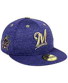 New Era Milwaukee Brewers 2017 All Star Game Patch 59FIFTY Fitted Cap