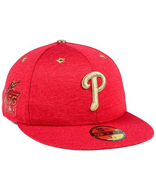 bdf63e22bec79 ... New Era Philadelphia Phillies 2017 All Star Game Patch 59FIFTY Fitted  Cap ...
