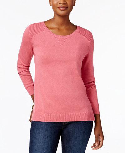 Karen Scott Petite Cotton Sweater, Created for Macy's - Sweaters ...
