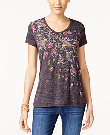 Style & Co Puff-Printed Graphic T-Shirt, Created for Macy's