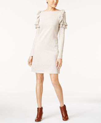 Style Co Ruffle Shoulder Sweater Dress Created For Macys