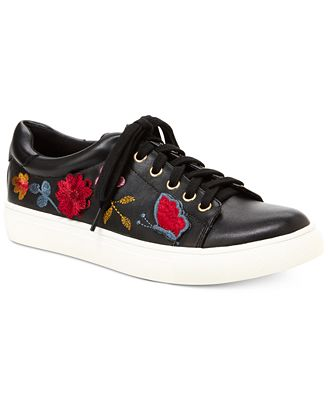 Nanette by Nanette Lepore Wildflower Embroidered Lace-Up Sneakers