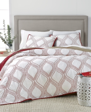 Martha Stewart Collection Gramercy Gate Reversible Twin Quilt Created for Macys