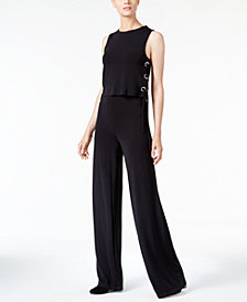MICHAEL Michael Kors Petite Lace-Up Jumpsuit