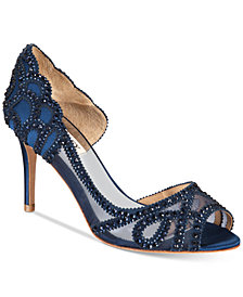 Badgley Mischka Marla Embellished Peep-Toe Evening Pumps, Created for Macy's