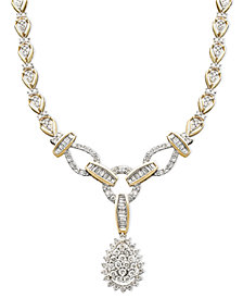 Diamond Teardrop Necklace in 14k Gold (2-1/2 ct. t.w.)